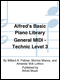 Alfred's Basic Piano Library General MIDI - Technic Level 3