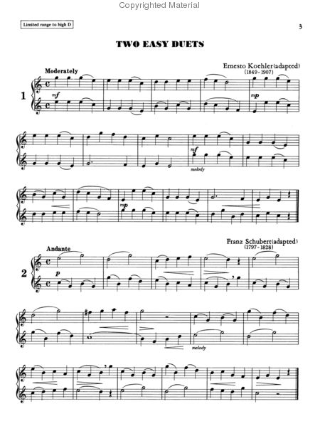Learn to play flute duets sheet music by william eisenhauer alfred