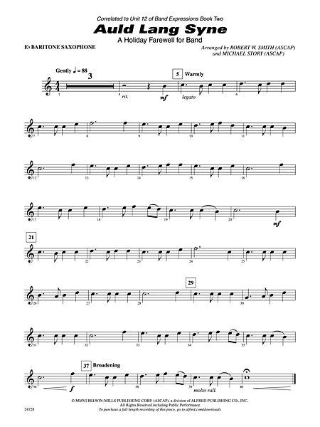 Auld Lang Syne A Holiday Farewell For Band E Flat Baritone