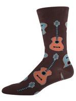 Men's Guitar Socks - Brown