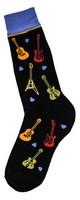 Men's All-Over Guitar Socks