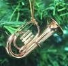 Baritone Horn Christmas Ornament