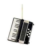 Black Accordion Christmas Ornament