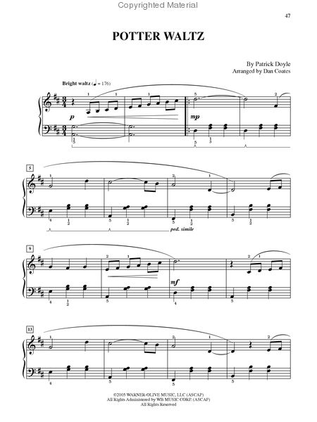 Harry Potter Magical Music - Easy Piano (Book) Sheet Music by John ...