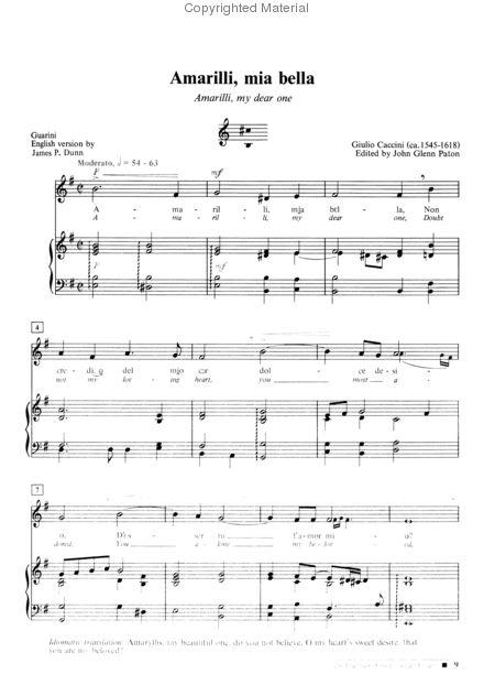 tu lo sai sheet music low voice pdf
