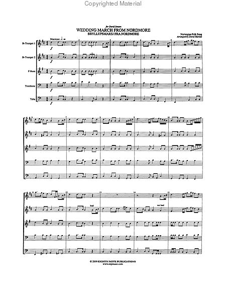 Wedding March Song.Wedding March From Nordmore Sheet Music By Norwegian Folk Song Alfred Publishing Company Prima Music