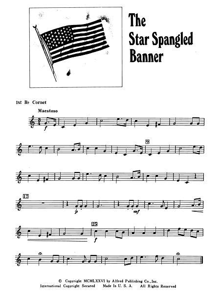 The Star Spangled Banner: 1st B-flat Cornet - Alfred Publishing ...