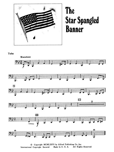 The Star Spangled Banner: Tuba - Alfred Publishing Company - Prima Music