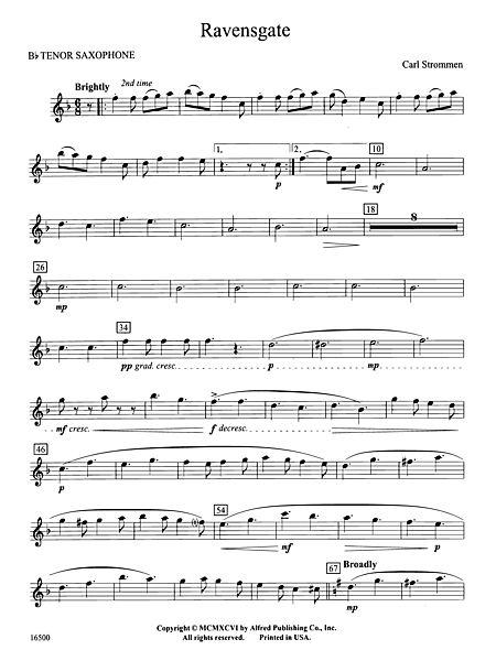 Ravensgate B Flat Tenor Saxophone Alfred Publishing Company Prima Music