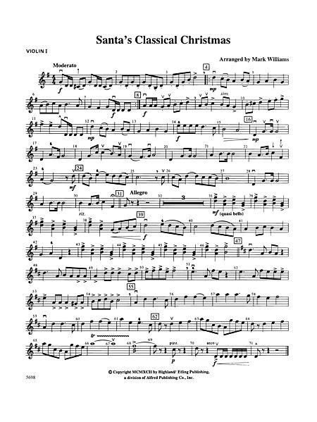 santas classical christmas 1st violin alfred publishing company prima music - Classical Christmas Music
