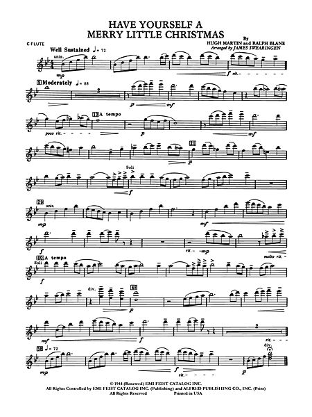 Have Yourself A Merry Little Christmas Piano Accompaniment.Have Yourself A Merry Little Christmas Flute Belwin Mills Prima Music