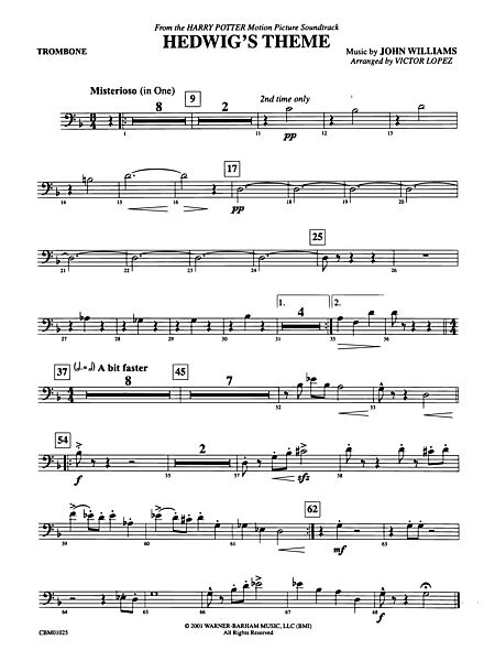 hedwigs theme trombone