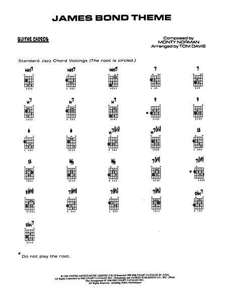 James Bond Theme: Guitar Chords - Alfred Publishing Company - Prima ...
