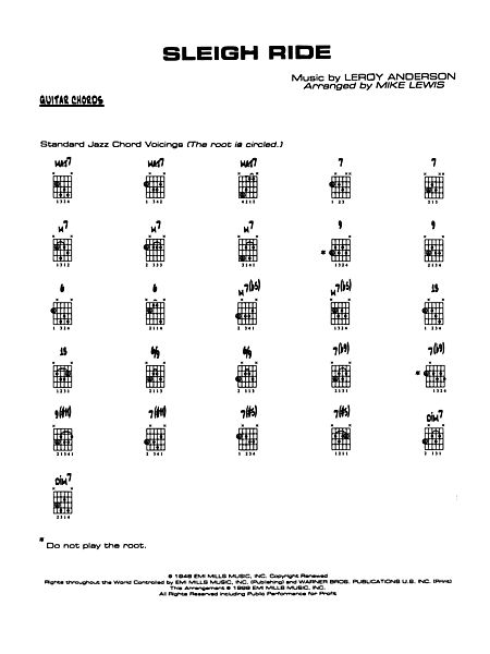 Sleigh Ride Guitar Chords Alfred Publishing Company Prima Music