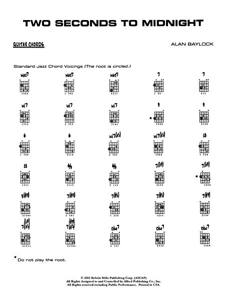 Two Seconds to Midnight: Guitar Chords - Alfred Publishing Company ...