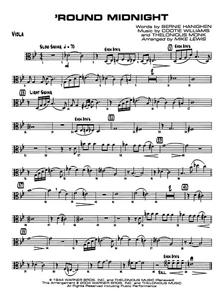Round Midnight: Viola - Alfred Publishing Company - Prima Music