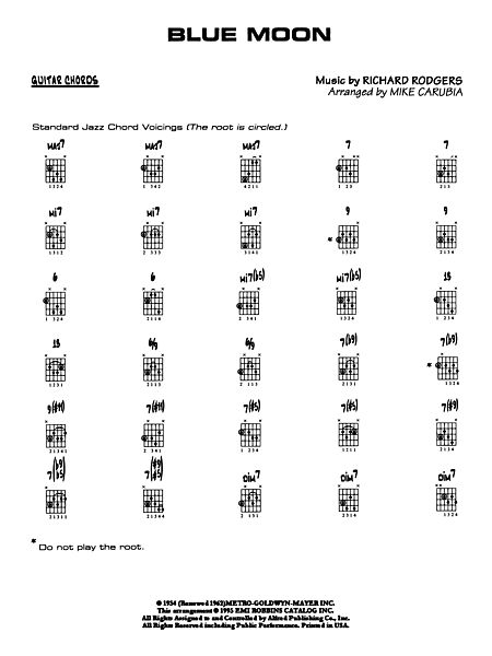 Blue Moon: Guitar Chords - Alfred Publishing Company - Prima Music
