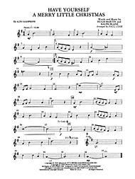 have yourself a merry little christmas e flat alto saxophone - A Merry Little Christmas