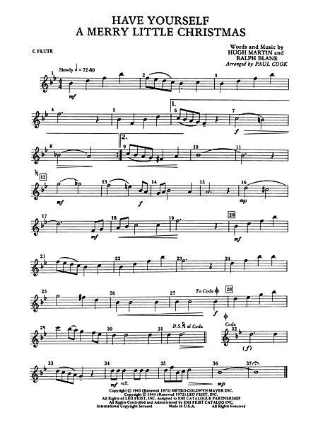 have yourself a merry little christmas flute alfred publishing company prima music