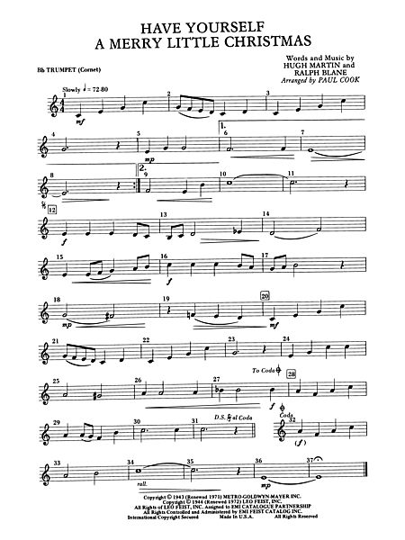have yourself a merry little christmas 1st b flat trumpet alfred publishing company prima music - Have Yourself A Merry Little Christmas Piano Chords