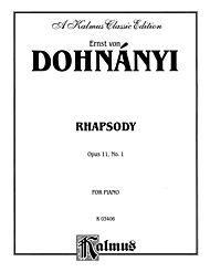 Dohnanyi Rhapsody by Ernst Von Dohnanyi Winkler, Marty