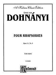 Dohnanyi RHAPSODY OP.11/4      P by Ernst Von Dohnanyi