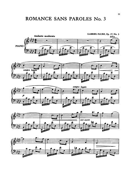 Romance Sans Paroles No 3 Edwin F Kalmus Prima Music