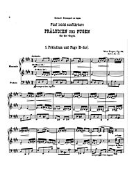 Five Easy Preludes, Op. 56 by Max Reger