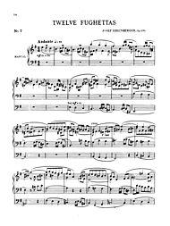 Twelve Fughettas, Op. 123B by Josef Gabriel Rheinberger