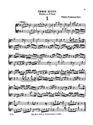 Three Duets for Two Violas by Wilhelm Friedemann Bach