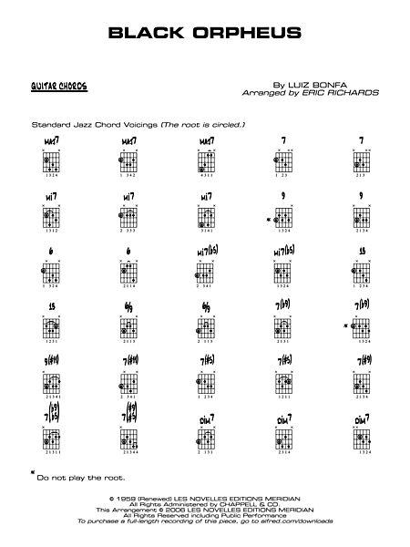 Black Orpheus Guitar Chords Alfred Publishing Company Prima Music