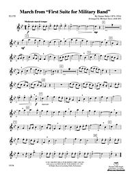 March from First Suite for Military Band (Conductor Score & Parts) by Gustav Holst
