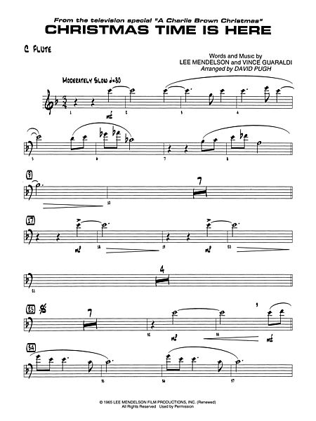 christmas time is here flute alfred publishing company prima music - Christmas Time Is Here Sheet Music