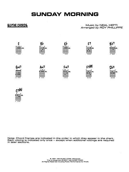 Sunday Morning: Guitar Chords - Alfred Publishing Company - Prima Music