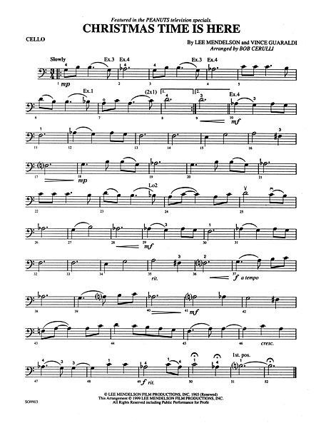 christmas time is here cello alfred publishing company prima music - Christmas Time Is Here Sheet Music