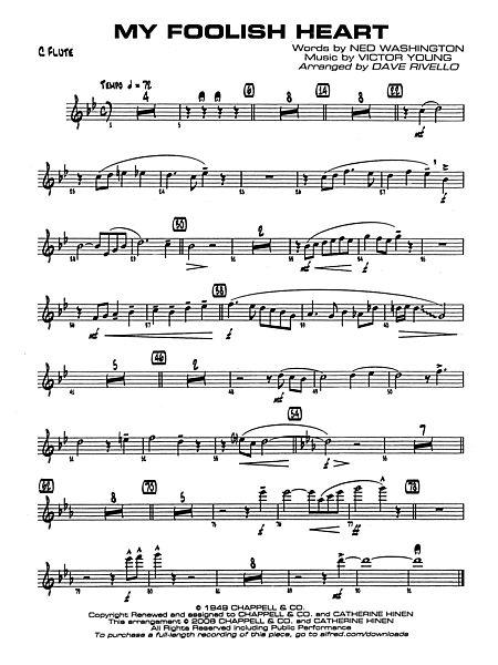 My Foolish Heart: Flute - Alfred Publishing Company - Prima Music