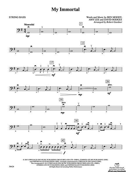 My Immortal: String Bass - Alfred Publishing Company - Prima Music