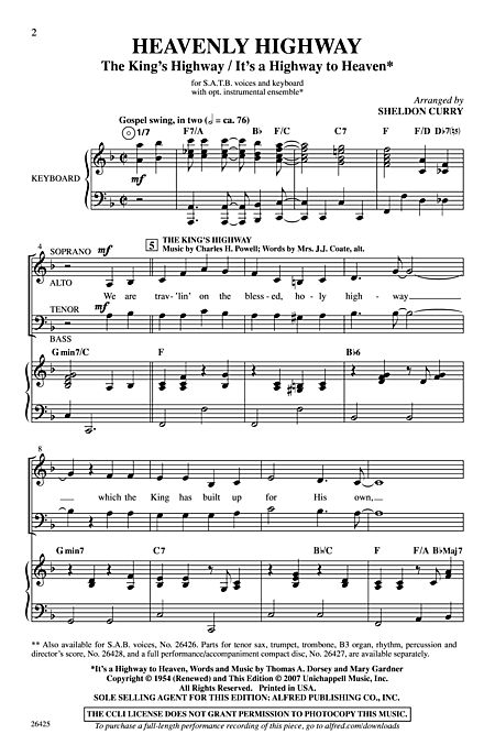 Heavenly Highway - SATB - Alfred Publishing Company - Prima Music