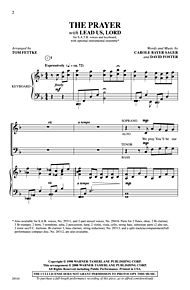 The Prayer (with Lead Us, Lord) - SATB (Choral Octavo) by Carole Bayer Sager
