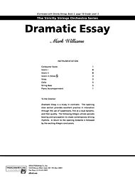 Dramatic essay for trumpet and band