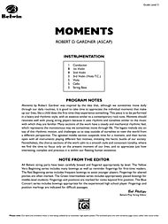 Moments (Conductor Score & Parts) by Robert D. Gardner