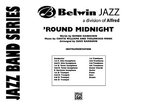 Round Midnight: Score - Alfred Publishing Company - Prima Music
