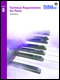 Technical Requirements for Piano (2015 Edition) - Level 8
