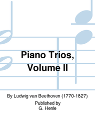 Piano Trios, Volume II - Beethoven Complete Edition, Abteilung IV, Vol  2  Clothbound Sheet Music by No Composer - G  Henle Verlag - Prima Music