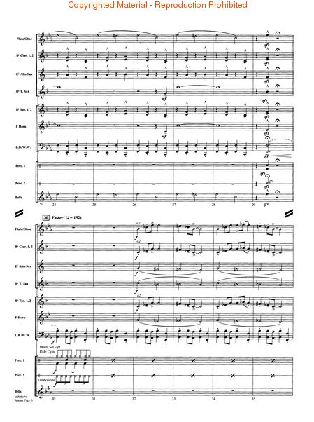 Spider Pig From The Simpsons Movie Score Parts Sheet Music By No Composer Hal Leonard Prima Music
