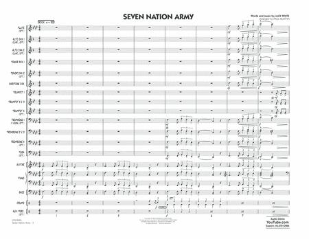 Seven Nation Army - Conductor Score (Full Score) by Jack White - Hal  Leonard - Prima Music