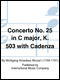 Concerto No. 25 in C Major, K.503
