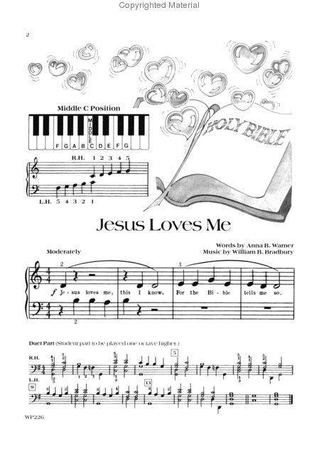 Popular Hymns - Primer Sheet Music by James Bastien - Neil