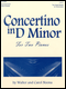 Concertino in D minor for Two Pianos (2P4H)
