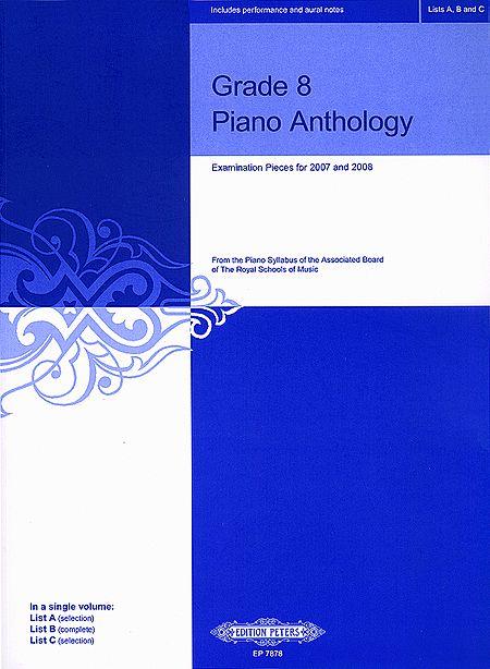 Grade 8 Piano Anthology, for ABRSM 2007-2008 Sheet Music ...